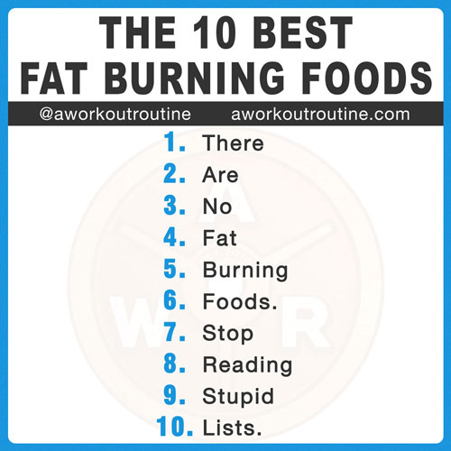 List Of The 10 Best Foods